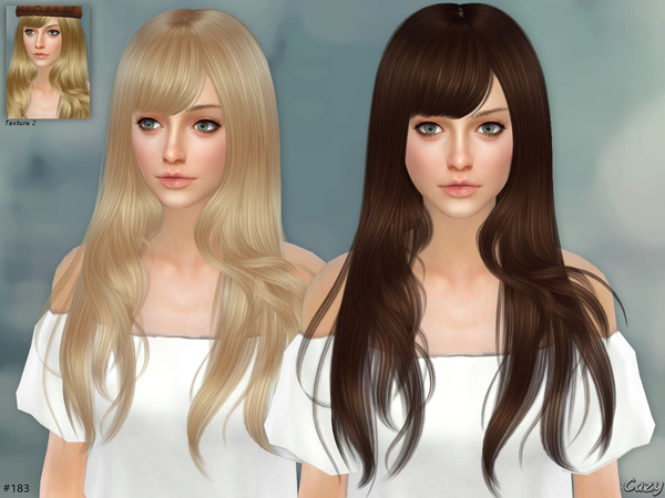 Hairstyles Updates: Autumn Breeze Female Hair By Cazy At TSR » Sims 4 Updates