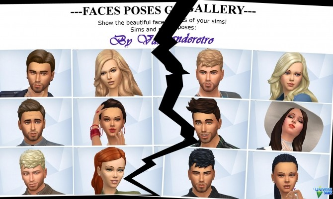 Sims 4 Centered Cas and Gallery Faces Poses by Vanderetro at L'UniverSims