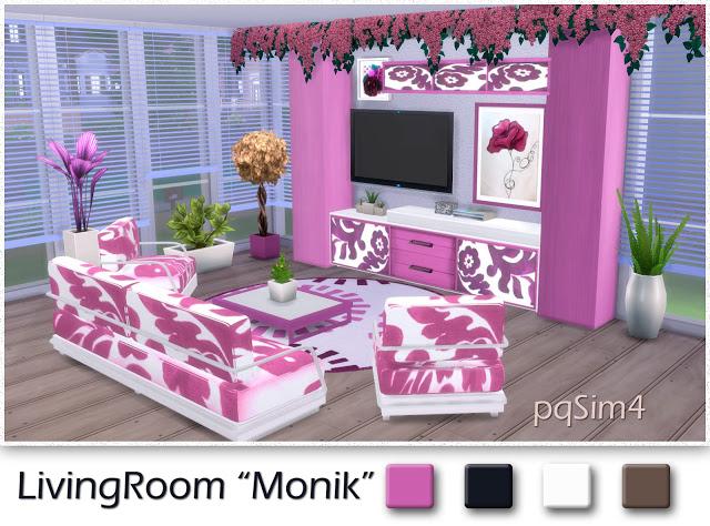 Sims 4 Monik living by Mary Jiménez at pqSims4