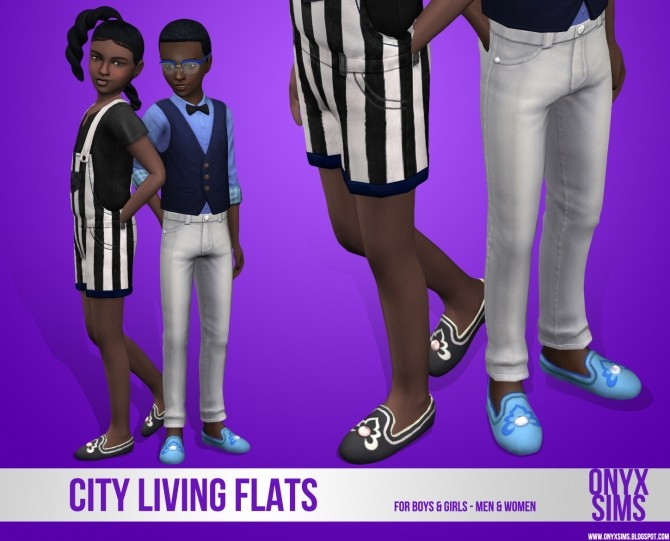 Sims 4 City Living Flats for Kids at Onyx Sims