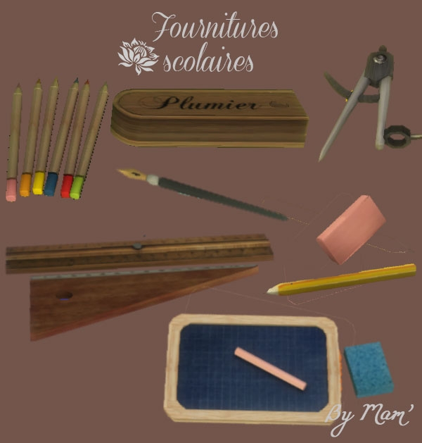 Sims 4 Sacré Charlemagne old classroom by Maman Gateau at Sims Artists