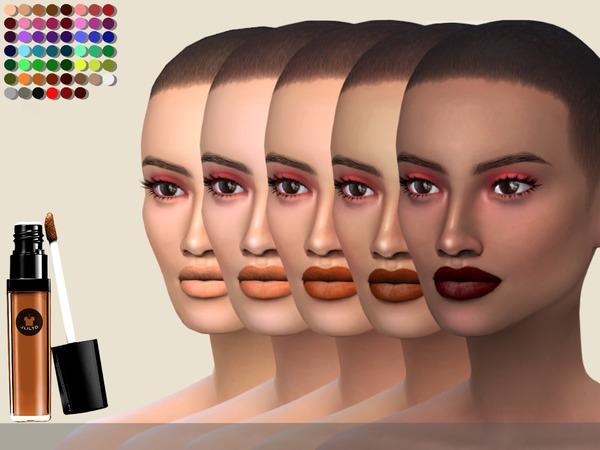 Sims 4 Elma Matte Liquid Lipstick 54c by jliltd at TSR