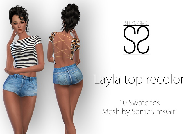 Sims 4 Layla Top recolor at SphynxSims