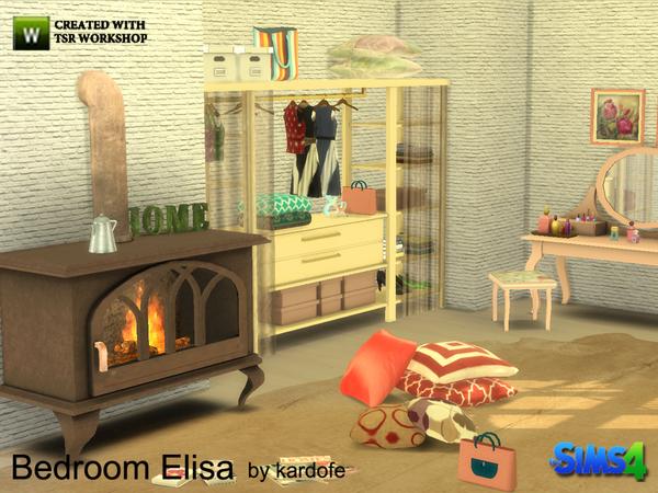 Sims 4 Elisa bedroom by kardofe at TSR