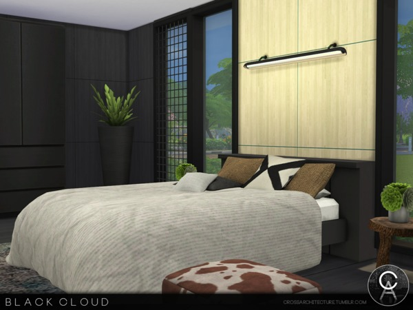 Sims 4 Black Cloud home by Pralinesims at TSR