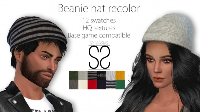 Sims 4 Beanie hat recolor at SphynxSims