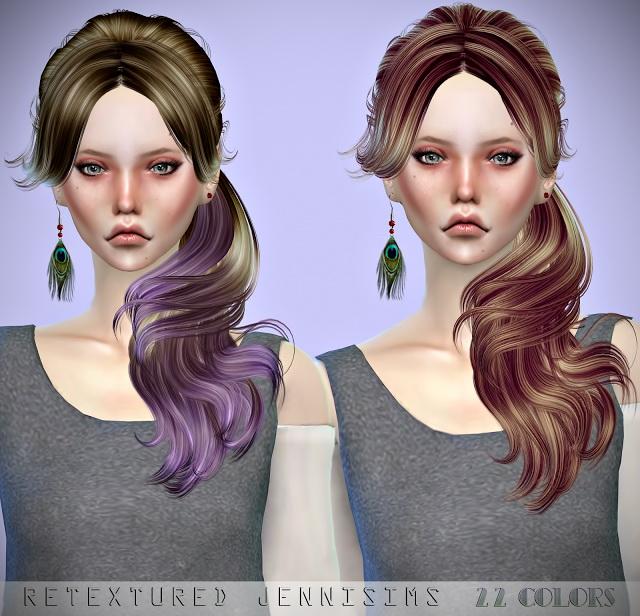 Sims 4 Newseas Crow and Liela hair retextures at Jenni Sims