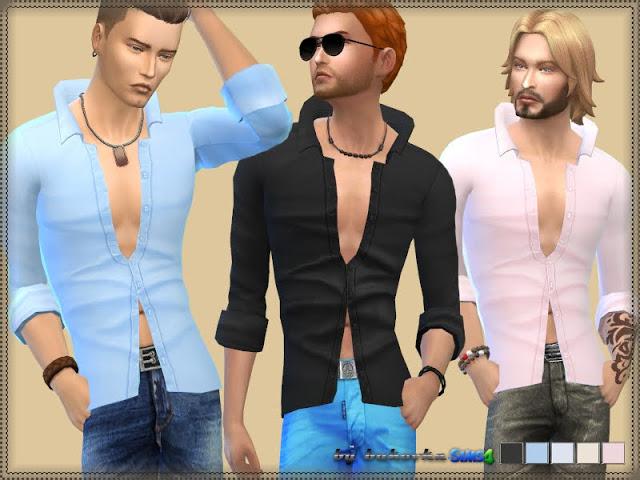 Sims 4 Shirt Up Collar at Bukovka