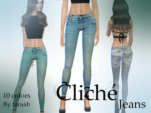 Sims 4 Cliche Jeans by taraab at TSR