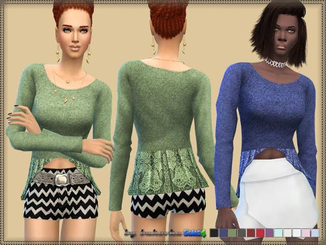 Sims 4 Mary Lou Top at Bukovka