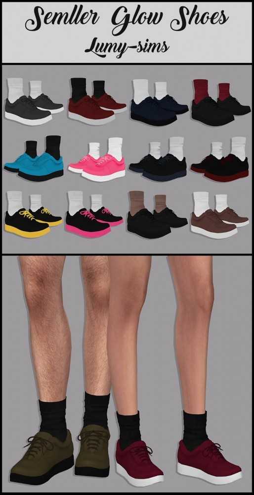 Sims 4 Semllers Glow Shoes at Lumy Sims