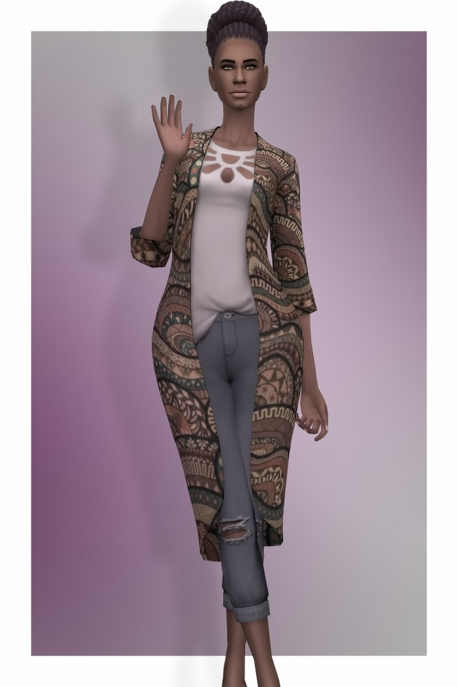 Sims 4 EP03 Robe With Ripped Jeans at Busted Pixels