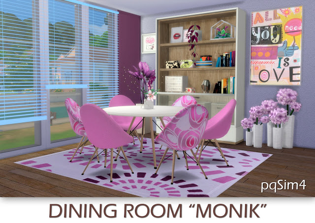 Sims 4 Monik diningroom by Mary Jiménez at pqSims4