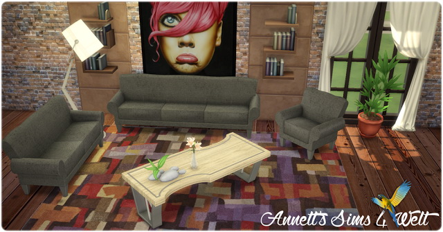Sims 4 TS3 to TS4 Conversion Living Set Celebrity at Annett's Sims 4 Welt