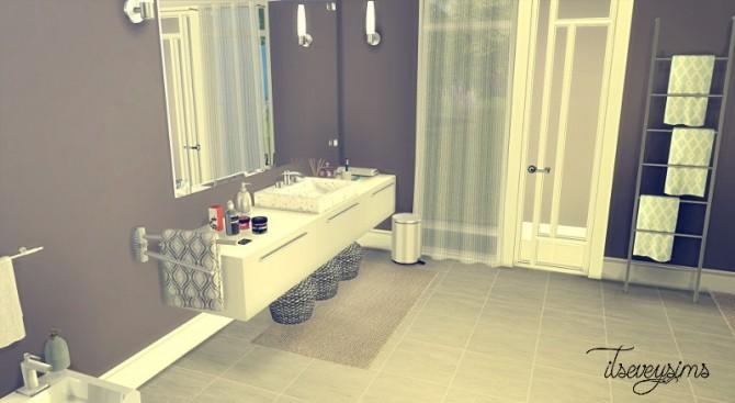 Modern bathroom at evey sims sims 4 updates for Bathroom ideas sims 3