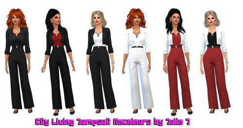 City Living Jumpsuit Recolours at Julietoon – Julie J image 1507 Sims 4 Updates