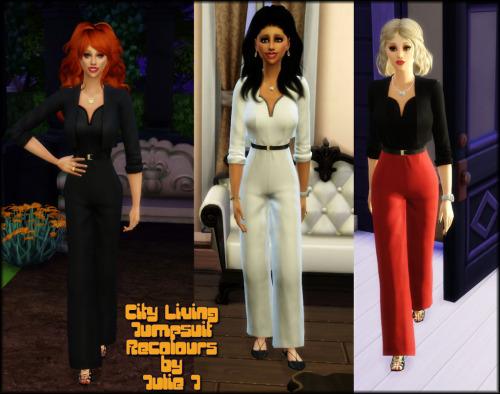 Sims 4 City Living Jumpsuit Recolours at Julietoon – Julie J