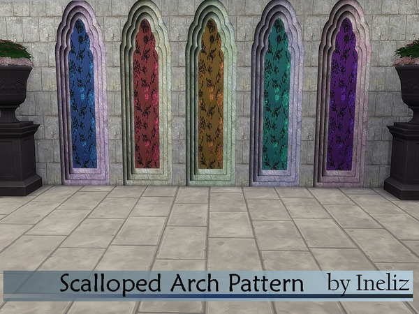 Scalloped Arch Pattern by Ineliz at TSR image 1538 Sims 4 Updates