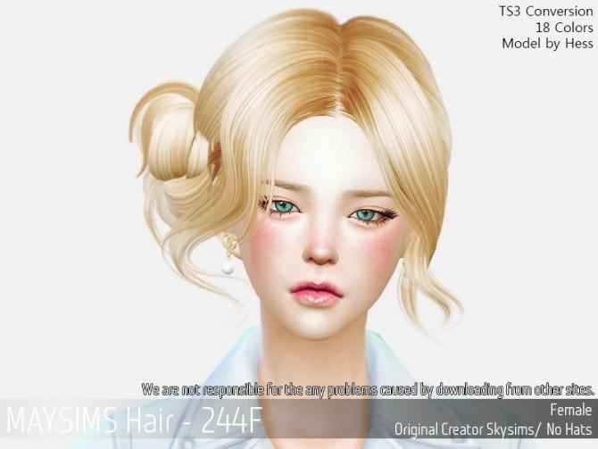 Hair 244F (Skysims) at May Sims image 155 670x503 Sims 4 Updates