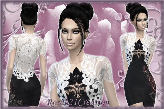 Rose dress by Rosah at Sims Dentelle image 1552 Sims 4 Updates