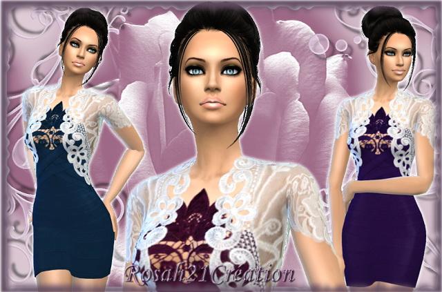 Rose dress by Rosah at Sims Dentelle image 1562 Sims 4 Updates