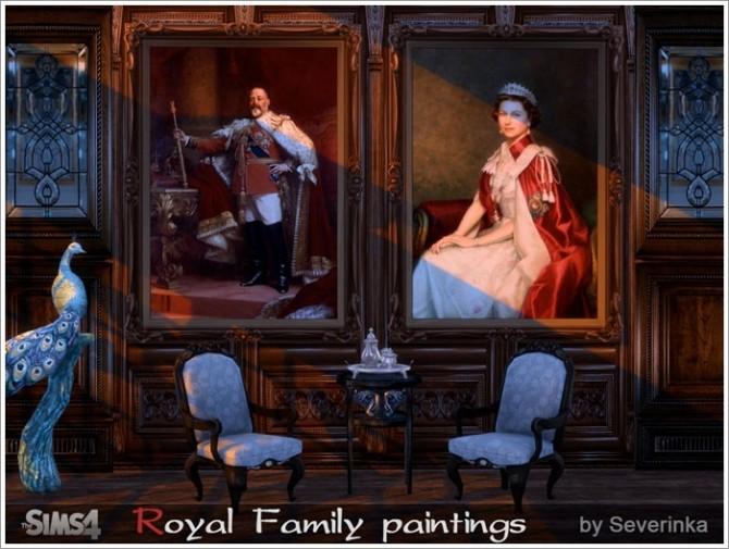 Royal Family Paintings At Sims By Severinka 187 Sims 4 Updates