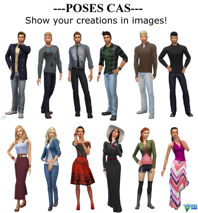Sims 4 Cas and Gallery Faces Poses by Vanderetro at L'UniverSims