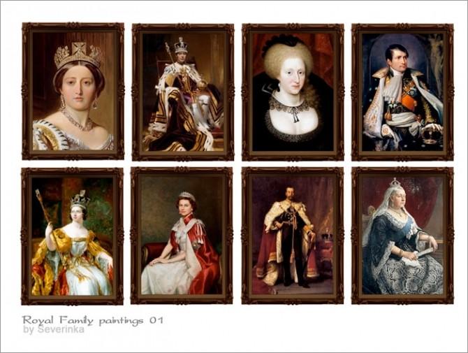 Sims 4 Royal Family paintings at Sims by Severinka