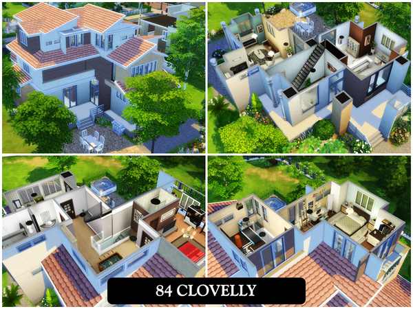 Sims 4 84 Clovelly house by juniorferbelles at TSR
