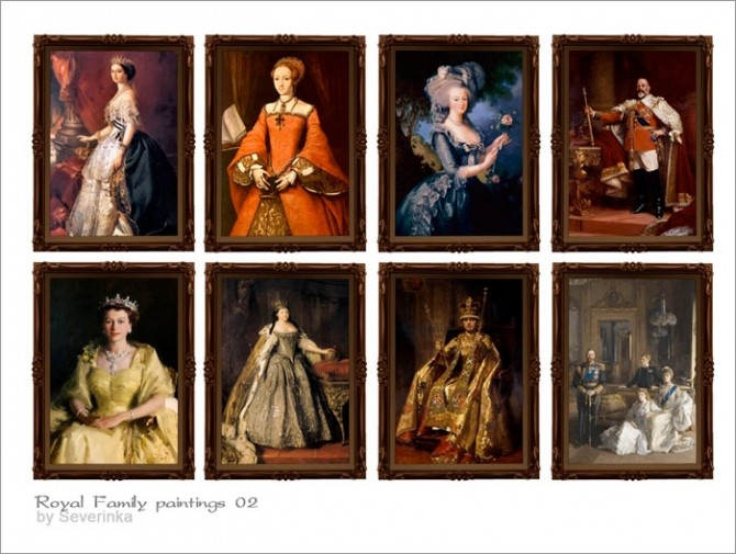 Royal Family Paintings At Sims By Severinka 187 Sims 4 Updates
