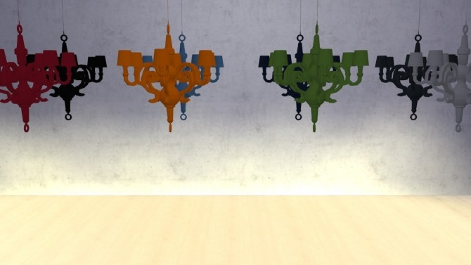 Sims 4 Paper Chandelier XL at Meinkatz Creations
