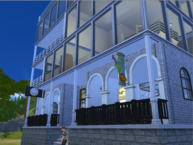 Sims 4 Cross view apt. No CC by whanghansong at Mod The Sims