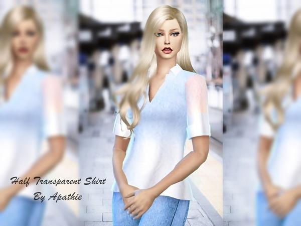 Sims 4 Half Trans Shirt by Apathie at TSR
