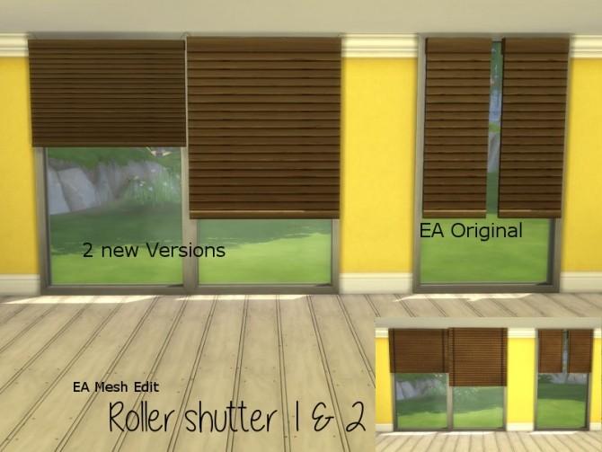 Sims 4 Roller Shutter mesh edit at ChiLLis Sims