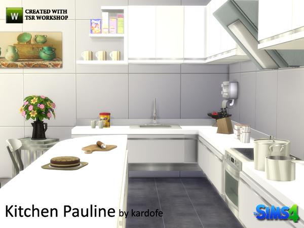 Pauline kitchen by kardofe at TSR image 1838 Sims 4 Updates