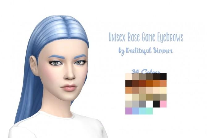 Base game eyebrows at Deeliteful Simmer image 1873 670x446 Sims 4 Updates