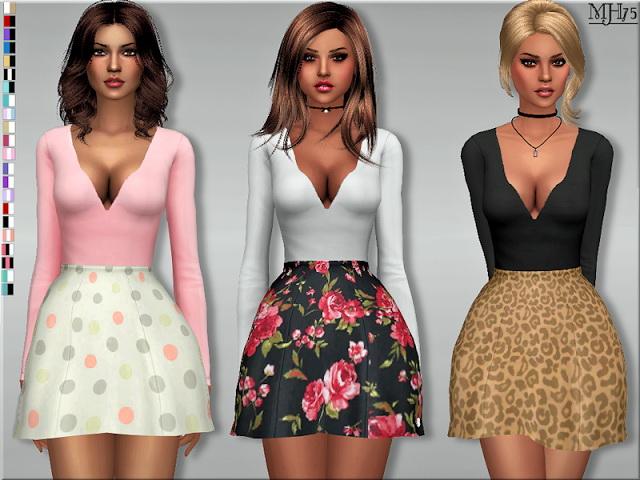Sims 4 Kodaline Dress at Sims Addictions