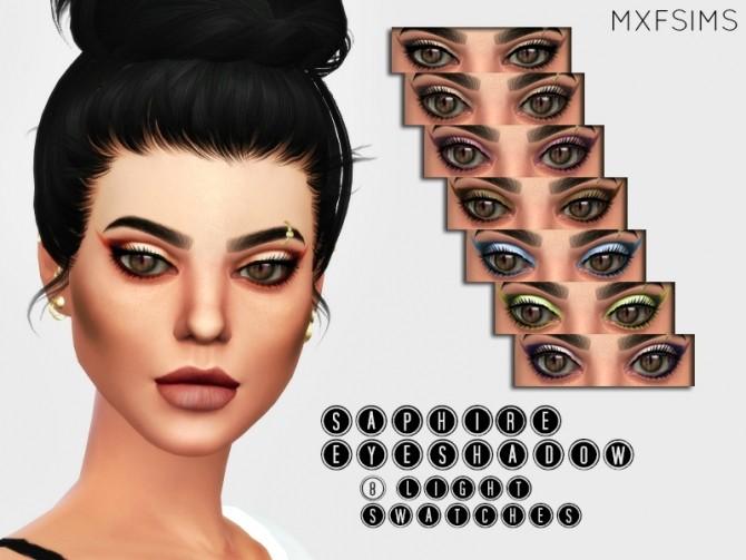 Sims 4 SAPHIRE EYESHADOW at MXFSims