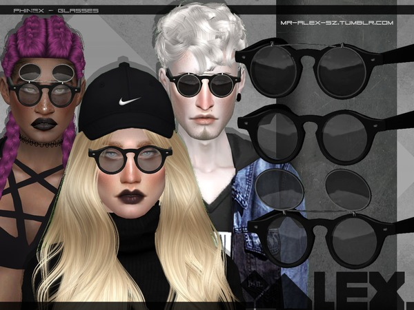 Phinex glasses by Mr.Alex at TSR image 1911 Sims 4 Updates
