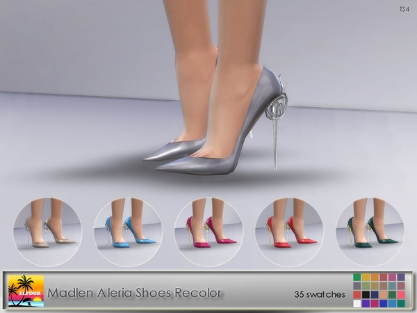 Sims 4 Madlen Aleria Shoes Recolor by Elfdor at TSR