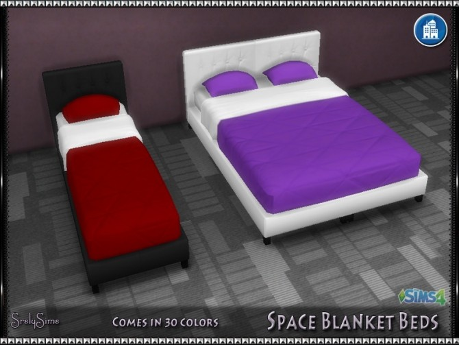 Sims 4 Space Blanket Beds at SrslySims