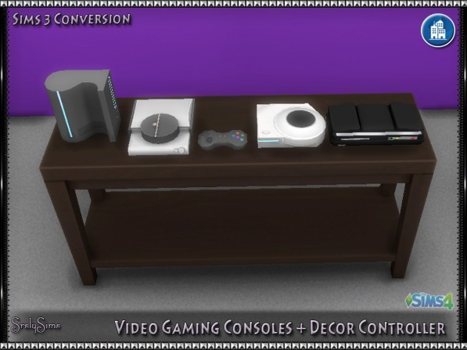 Sims 4 Video Gaming Consoles + Decor Controller at SrslySims