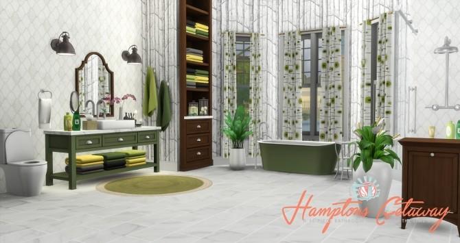 Hamptons Getaway Bathroom Addon at Simsational Designs image 1955 670x355 Sims 4 Updates