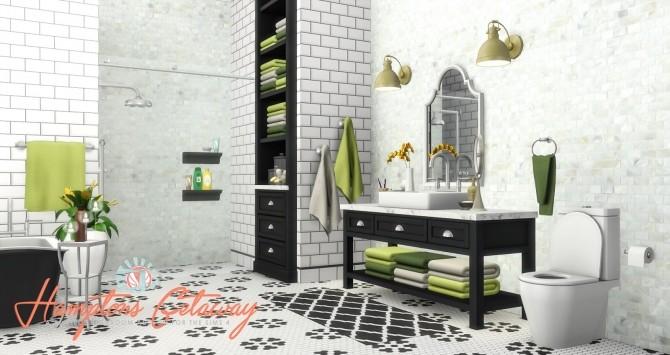 Hamptons Getaway Bathroom Addon at Simsational Designs image 1975 670x355 Sims 4 Updates