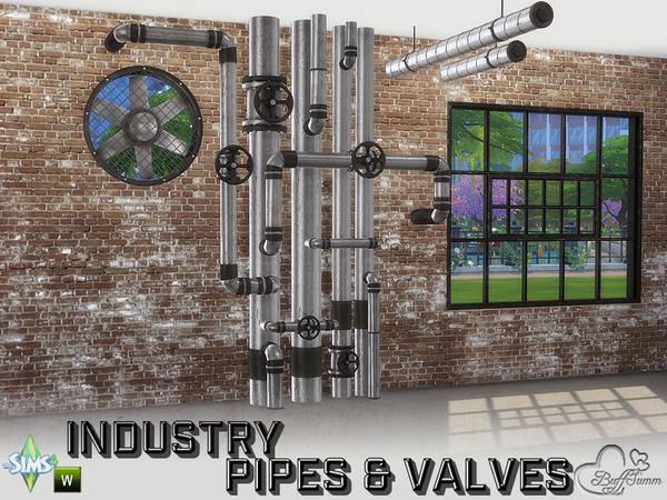 Sims 4 Industry Pipes & Valves by BuffSumm at TSR