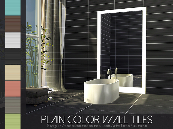 Sims 4 Plain Color Tiles Set by Rirann at TSR