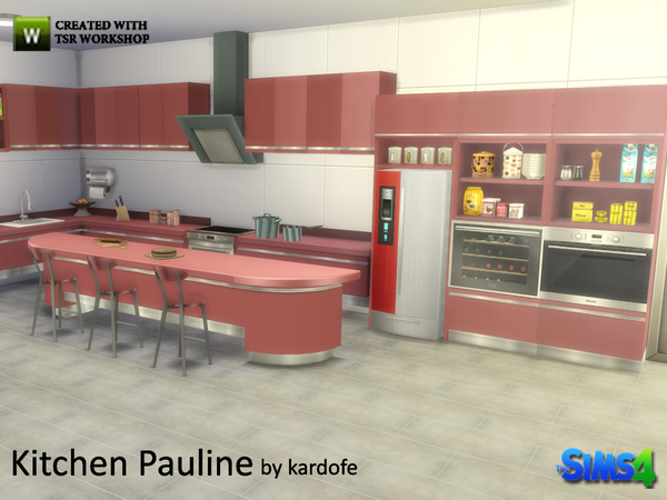 Pauline kitchen by kardofe at TSR image 2036 Sims 4 Updates