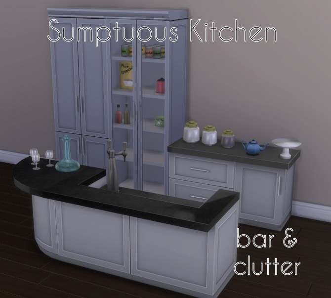 Sims 4 Sumptuous Kitchen Add Ons by Madhox at Mod The Sims
