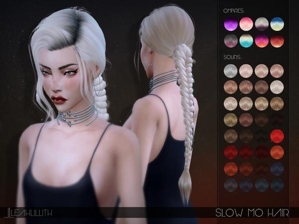 Sims 4 Slow Mo Hair by Leah Lillith at TSR