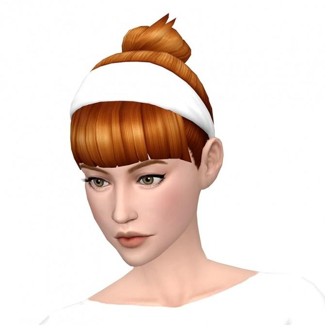 Sims 4 Deetrons Band Bun Bangs Hair Recolors at Deeliteful Simmer